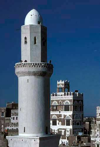 YEMEN  view of Sana'a, old town YM1145