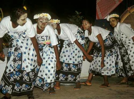 Dancing during a Grand Marriage ceremony Grand Comore, Indian Ocean