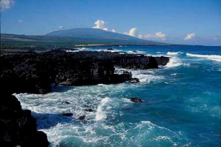 Karthala Volcano and coastline Grand Comore