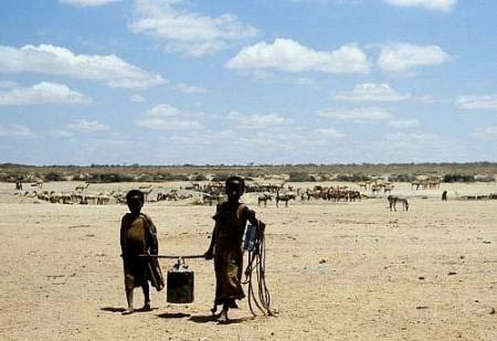 Fetching water, Ogaden, Ethiopia