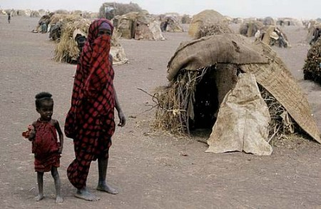 Ogaden refugee camp with Somali woman Ethiopia