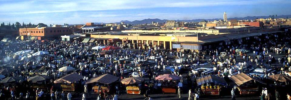 Djem el Fna place in Marrakech, Morocco