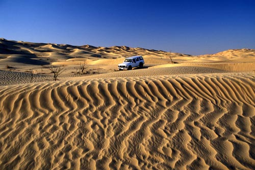 Reaching the edge of the vast Empty Quarter of Arabia