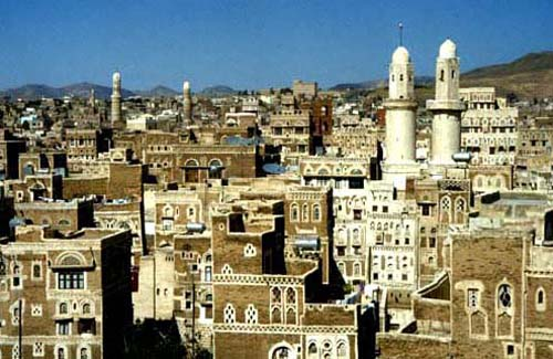 The astonishing tower houses in Sana'a, capital of the Yemen