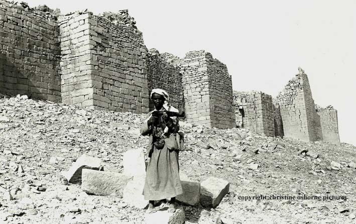 The boy outside the ramparts of Baraqish, Yemen 1980