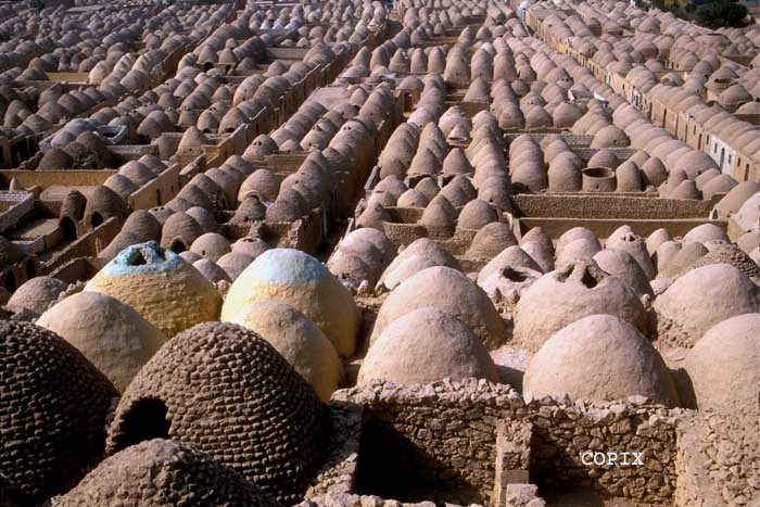 Zawiyet el Mayiteen Ancient Muslim necropolis in Minya Egypt