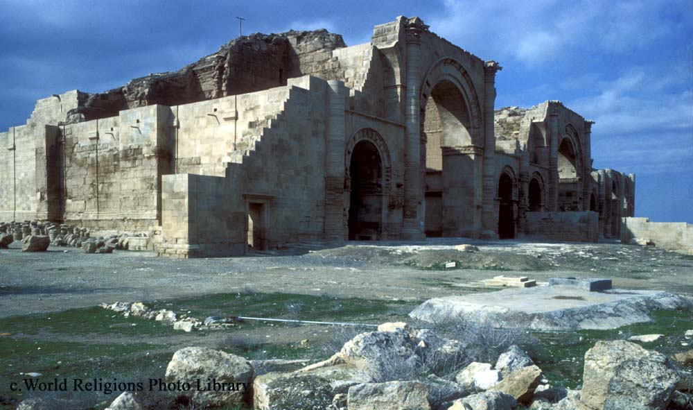 The huge Temple of Shamash, the ancient Mesopotamian Sun-God, Hatra, Iraq