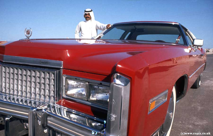 Red Cadillac, Umm al Quwain, 1975