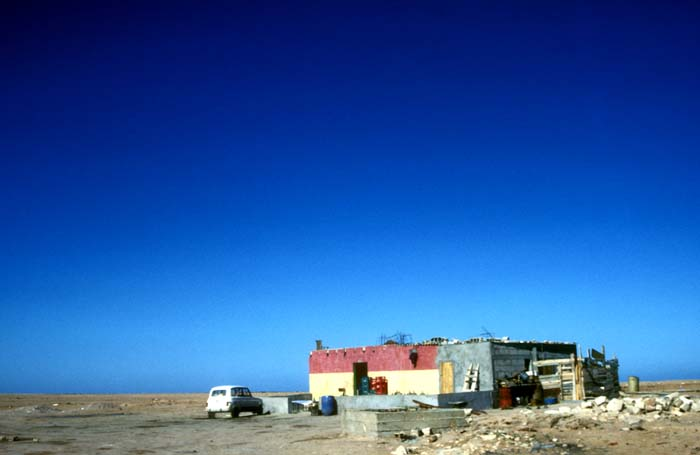 The terrible Cafe Lemsid, in the Western Sahara of Morocco